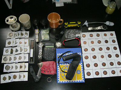 Junk Drawer Lot C - Coins And Collectables
