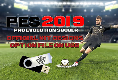 PES 2019 OPTION File - Official Kits And Logos On 2GB USB For PS4