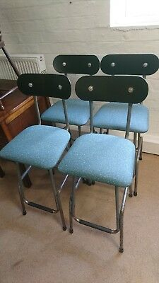 Vintage Set of 4 Industrial Loft Machinist Factory Chair Bar Stool Rough Luxe