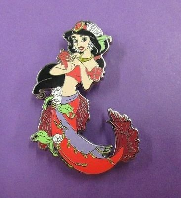 Fantasy Pin - Disney Aladdin Princess Jasmine as Mermaid in Red LE100