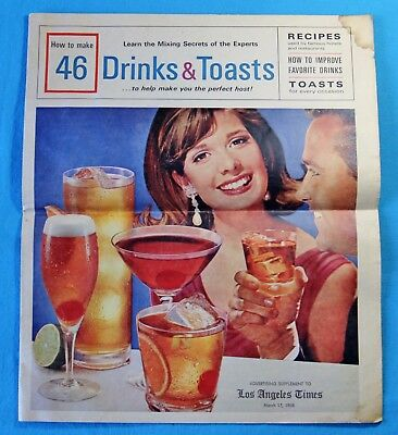 How To Make 46 Drinks & Toasts , Advertisement Los Angeles Times 1968