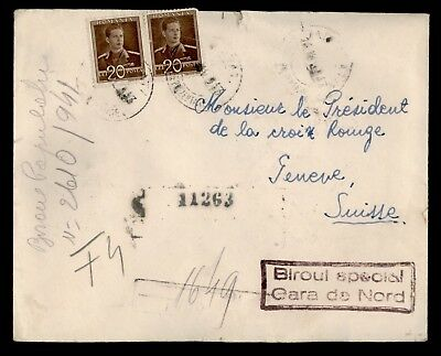 Dr Who 1943 Romania To Switzerland C39059