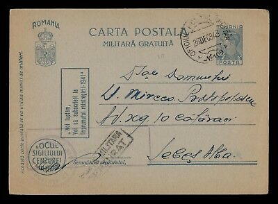 Dr Who 1943 Romania Postal Card Stationery C39062