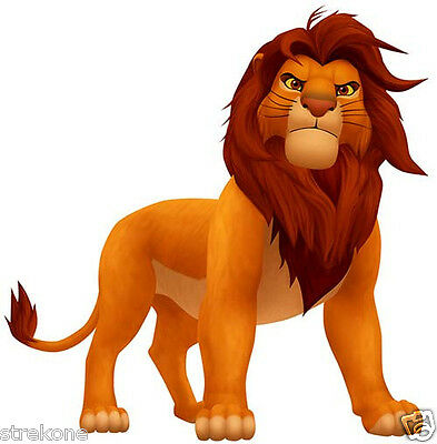 Walt Disney's SIMBA the Lion from The LION KING Window Cling Decal Sticker - NEW