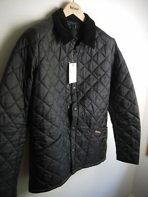 Barbour Men's Heritage Liddesdale Jacket, Black, Small, New With Tags
