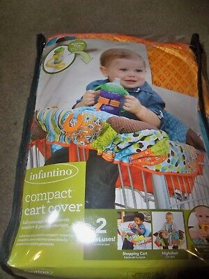 (F) NEW Compact Shopping Cart Cover Seat, Baby Toddler BOY/GIRL- Infantino  -NEW