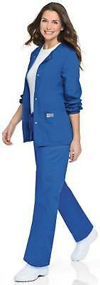 Scrubzone By Landau Women's Warm Up Solid Scrub Jacket Xxxxx-Large Nautical