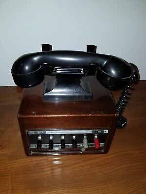 Vintage wooden Mid Century switched Telephone - Reception Shop Store