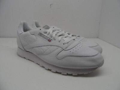 38894080c8df3 Reebok Men s Classic Leather Athletic Casual Shoe White Size 13M
