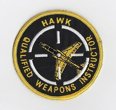 Royal Air Force   -  Hawk Qualified Weapoms Instructor patch  -  Bae  Hawk