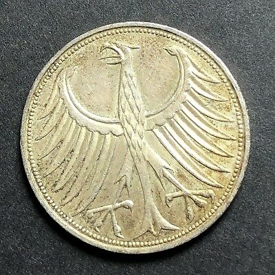 1970 5 Mark Germany Silver Coin
