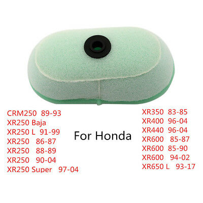 See Notes #Y177 Honda Air Filter Cleaner Element XR250 XR350 XR400 XR600 OEM