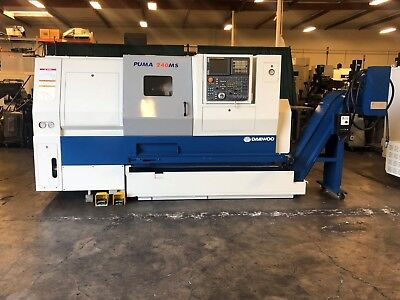 2004 DAEWOO PUMA 240-MSB LIVE MILLING & SUBSPINDLE w/FANUC 18iTB CONTROL