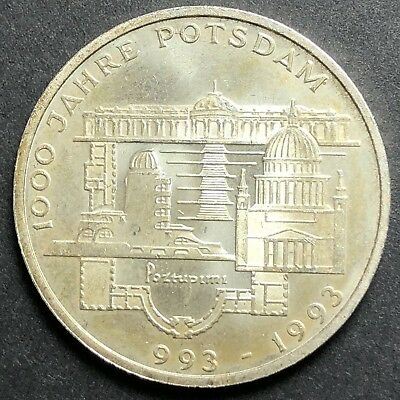 GERMANY 10 Mark 1993F Proof - Silver - 1000 Years of Potsdam