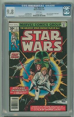 STAR WARS #1 CGC 9.8 White Pages Marvel Comics 1977 Beauty