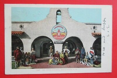 The Indian Building Albuquerque NM Posted Fred Harvey UDB Postcard