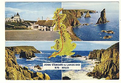 Old Postcard - John O'Groats to Lands End (Various Views) - Unposted M003