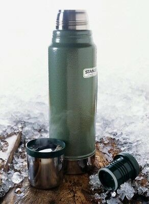 VINTAGE ALLADIN STANLEY Large Thermos with Cup / Lid - Handle, Green ...