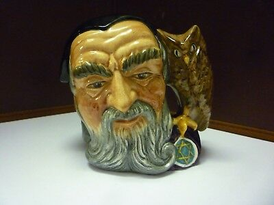 Small Vintage Doulton Toby Jug Merlin See Large Collection Listed