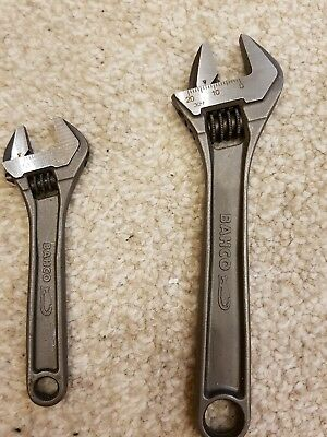 Bahco adjustable spanners Set Of 2 4 Inch & 6 Inch