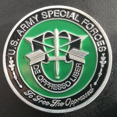 US Special forces To Free The Oppressed Challenge COIN FREE COIN STAND