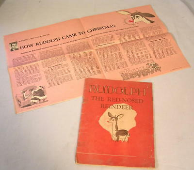 RUDOLPH The Red-Nosed Reindeer MONTGOMERY WARD Giveaway 1st Edition 1939 & BONUS