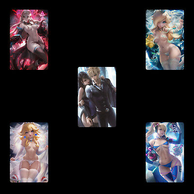5PCS PVC NFC Tag Game Card Super Smash Bros. SSB Sexy Collection for Switch/3DS