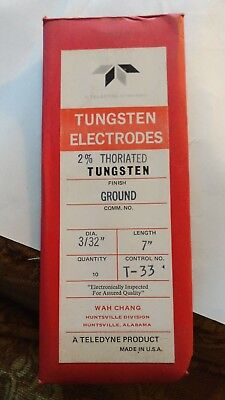 2 % thoriated 3/32 tungsten electrodes Teledyne TIG 10 pack