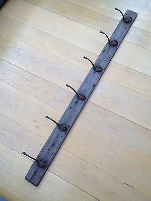 Antique Original Cast Iron Coat Hat Hooks Rack Reclaimed Vintage Architectural