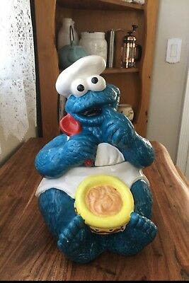 RARE-VINTAGE -  Enesco - 1993 - Chef Cookie Monster Cookie Jar - Jim Henson