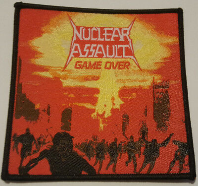 Nuclear Assault Patch woven Game Over Overkill Anthrax Napalm Death Aufnäher
