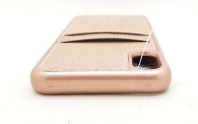 72ad311a1c10 Michael Kors Saffiano Leather Pocket Case for iPhone X/Xs Ballet Rose Gold  NEW