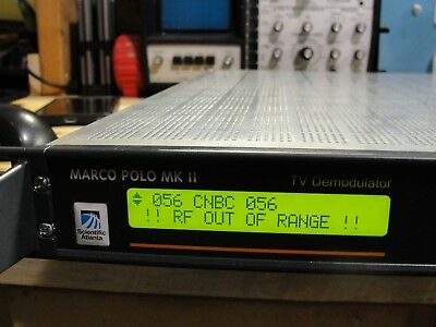 Scientific Atlanta Marco Polo MKII Part No V9526041 Universal TV Demodulator