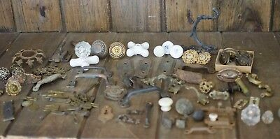 Lot Of Antique hardware antique hardware lot knobs, handles, door knobs, latches