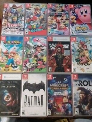 Nintendo switch game lot of 12 Mario odyssey Mario Kart Hyrule warriors
