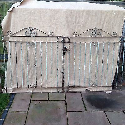 Pair Of Large Antique Wrought Iron Garden Gates Reclaimed Salvage.