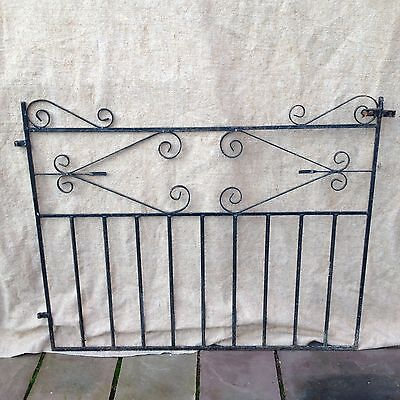 Large Antique Wrought Iron Garden Gate Reclaimed Salvage.