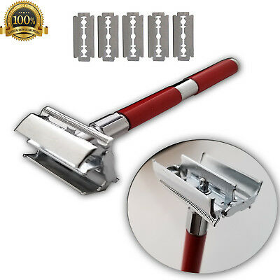Men's Traditional Classic Double Edge Shaving Safety Close Barber Shave 5 Blades