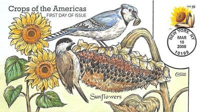 4010 39c Crops of the Americas, Sunflowers single, Collins H/P [E396222]