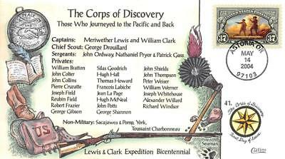 3854 37c Lewis & Clark, Corps of Discovery, Collins H/P Hand Painted [E396280]