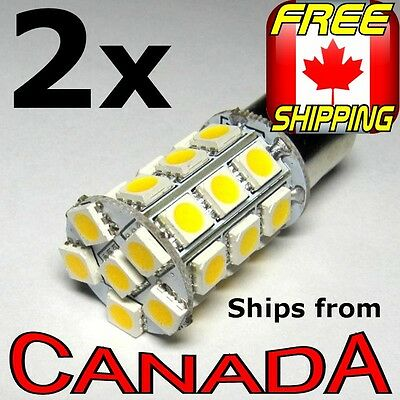 TWO 1157 Bright Cool White LED Bulbs - 27 x High Power 5050 Chips