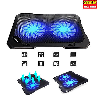 """Laptop Cooling Pad Support 12""""-15.6"""" Inch Notepad Cooler Stand Coolpad Mat New"""