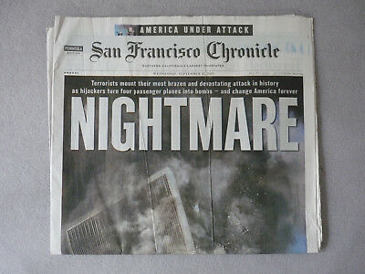 9/11 Newspaper - The San Francisco Chronicle (Peninsula Edition) - Sept. 12 2001