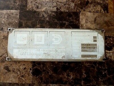 Builders  Plate Emd Locomotives Gp 60 Locomotive