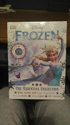 Disney Frozen Essential Collection Sing-A-Long 2 Books Lyrics Music Stickers