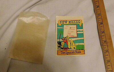 vintage New Mexico The Spanish State  Window Decal sticker