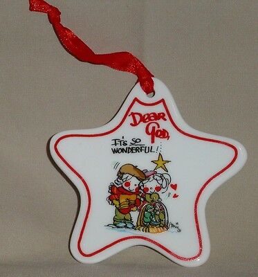 "DEAR GOD STAR SHAPED CHRISTMAS ORNAMENT ""It's So Wonderful"" 2008 Collectible NEW"