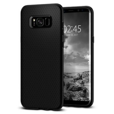 Spigen Galaxy S8+(Plus) Liquid Air Armor Easy Grip Design Black (571CS21663)