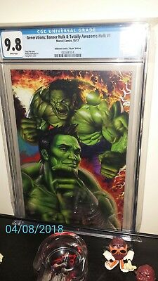 Greg Horn Virgin Edition Generations Banner And Totally Awesome Hulk 1 Cgc 9.8.