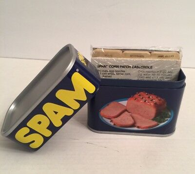 Vintage SPAM New Recipe Box Recipes Dividers Plastic Hormel Pork USA